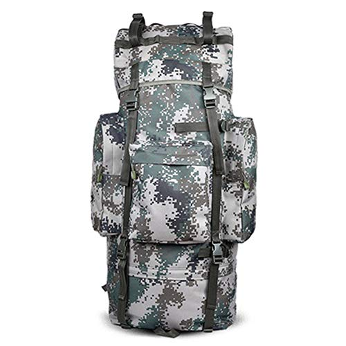 WHALLO High Capacity 100L Outdoor Camouflage Hiking Backpack, Waterproof Bags For Travelling Camping, For Travelling Camping Trekking Climbing