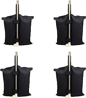 Grado Industrial Heavy Duty bolsa de pesos con doble costura, pierna pesos para Pop Up carpa peso bolsas de arena bolsa de pies 4pcs-pack, Color negro. (canopy weightsbag, black)