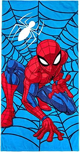 Proxiceen Toalla de playa de microfibra de Spiderman para niños y niñas, secado rápido, ligera, grande (70 x 140 cm)