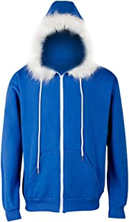 Halloween Cosplay Zipper Hoodie, Cotton Hooded Sweatshirt Coat