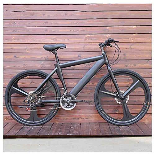 Bicicleta para joven Bicicletas De carretera Bicicletas de montaña for adultos bicicletas MTB Hombres de camino de la bicicleta for las mujeres de 24 pulgadas ruedas ajustables doble freno de disco Bi