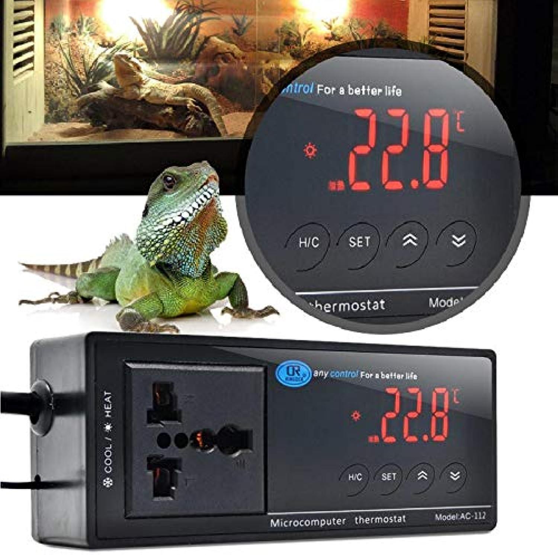 Digital LED Temperature Controller Thermostat for Aquarium Reptile 110 220V  UK Plug