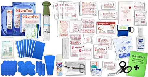 Erste Hilfe FÜLLUNG Gastro für Betriebe DIN/EN 13157 Plus 4 INKL. Augenspülung + Brandgel + detektierbare Pflaster + Hydrogelverbände + Antisept-Hygiene-Spray & SPRÜHFPFLASTER