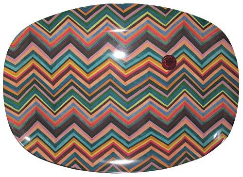 Rice Melamin Servierplatte Zigzag Print