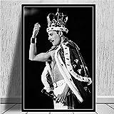 HNTHBZ Freddie Mercury Queen-Musiker-Kunst-Plakat