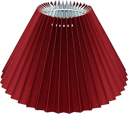 Plissee Lampenschirm SANGUE DI BUE *rund* dunkelrot, transluzenter Lumière-Karton, Du=25/Do=9,5 /schräge H=16cm, Befestigung E27 (E14 mit Reduzierring , optional separat bestellbar )