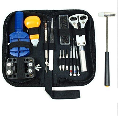 TMISHION Kit de Reparación de Relojes, 14 Piezas Reloj de Reparación de...