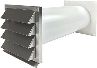EASYTEC Energiesparender Mauerkasten Durchmesser 150 mm Edelstahl mit zwei Rückstauklappen 716350881519