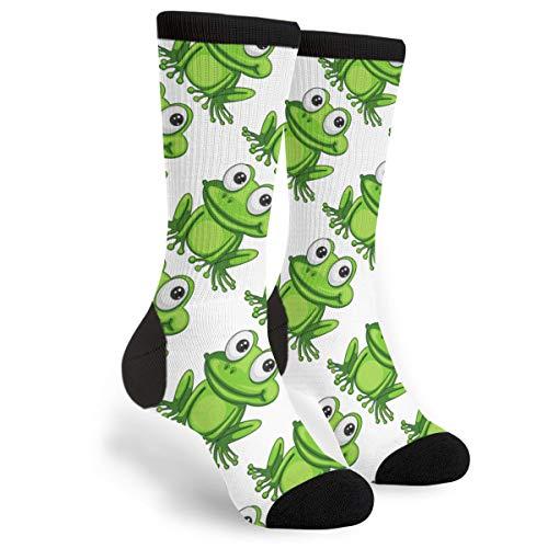 Unisex Fun Novelty Crazy Crew Socks Cartoon Frog Dress Socks