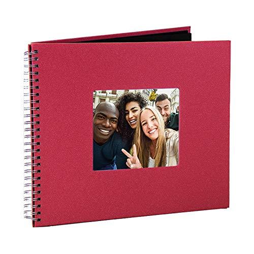 Álbum de fotografias 30x30cm Scrapbook Glamour Vermelho c/ 40 Páginas