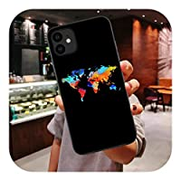 Yokkg ワールドマップトラベルジャストゴーシリコンTPUカバーFor iPhone11 ProMaxライフ飛行機ソフトケースFor iPhone12 6s 7 8 Plus X XR XS Max-H324-For 7Plus 8Plus