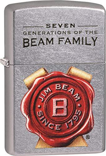 Zippo Jim Beam Feuerzeug, Street Chrome, One Size