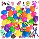 Howaf 30 Plastique Surprise Oeufs de pâques remplis de Jouets, Pâques Chasse Cadeaux pour Enfant Fille garçon