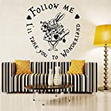 Alice in Wonderland Wall Decal I'll Take You to Wonderland Vinyl Wall Art Wall Sticker for Nursery Kids Room