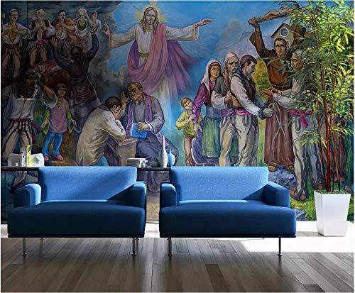 Benutzerdefinierte Wandbild 3D Foto Wallpaper Jesus Christus Ölgemälde Wohnzimmer Home Decor 3D Wandbilder Wallpaper für Wände 3D 350cm × 245cm