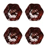 LLSS Piatti per antipasti Set di Ciotole per Salse in Ceramica Ciotole/Piatti per Salsa di Immersione a Forma di Fiore Squisito per Salsa di Pomodoro, Gelato, Dessert e Altre