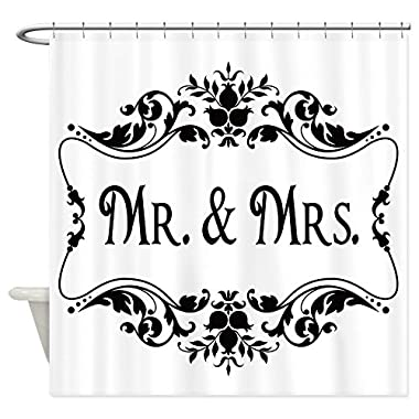 CafePress - Mr. Mrs. Shower Curtain - Decorative Fabric Shower Curtain (69 x70 )