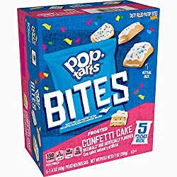 Pop-Tarts Bites, Tasty Filled Pastry Bites, Frosted Confetti Cake, 7oz Box (5 Count)