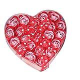 Xshuai Savon Rose Fleur - Lot de 24 Cœur parfumée Pétale de bain Corps Pétale fleur rose Savon Décoration de mariage Meilleur...