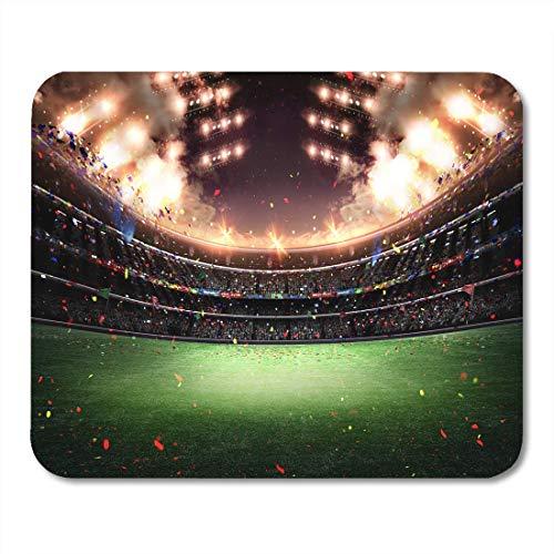 AOHOT Mauspads Green Soccer Stadium Light 3D Football Field Win Sport Fotball Mouse pad 9.5' x 7.9' for Notebooks,Desktop Computers Accessories Mini Office Supplies Mouse Mats