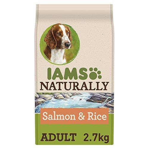 Iams natuurlijk hondenvoer met North Atlantic zalm en rijst, compleet en evenwichtig hondenvoer met natuurlijke ingrediënten, 2,7 kg.