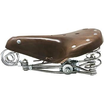 TentHome Selle de v/élo vintage en cuir avec 4 ressorts