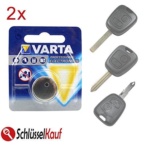 2X Autoschlüssel Batterie passend für Peugeot 107 207 307 Citroen C1 C2 C3 C4 Saxo