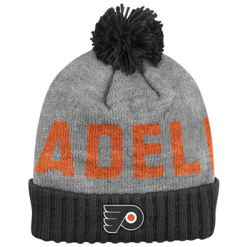 c1aaf0435f21f NHL Mitchell   Ness Philadelphia Flyers Gray-Black Breakaway Cuffed Knit  Beanie