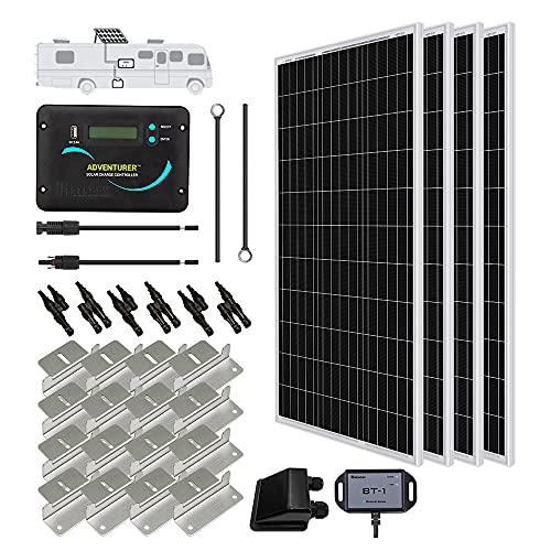 Renogy 400 Watts 12 Volts Monocrystalline Solar RV Kit Off-Grid Kit with...