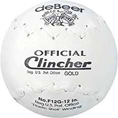 "**IMPORTANT: These are Clincher Gold, THESE BALLS HAVE THE HARD CORE - (REBOUND VERY FAST): For a rebound more SLOW, then you will need REGULAR Clincher Balls - 12"" Inches - White/White Stitch - Clincher Stitch TruTech Leather"