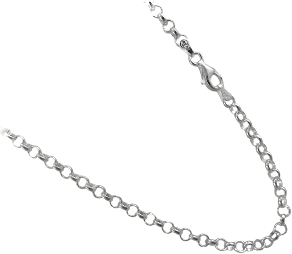 JOSCO 4mm Rolo Chain .925 Italian Max Limited price sale 73% OFF 16 Necklace. Sterling 1 Silver
