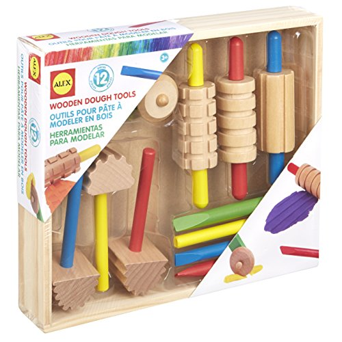 Alex Art Wooden Dough Tools Set Kids Art and Craft Activity