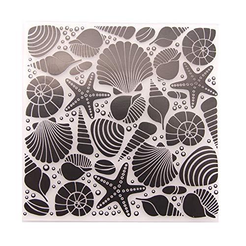 Seashell Sea Star Hintergrund Kunststoff Prägemappen für DIY Karten Basteln Dekoration Schablone Scrapbooking Werkzeuge