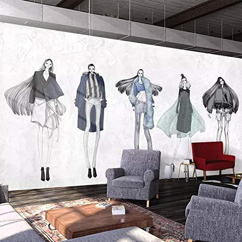 Papel Pintado Pared Dormitorio Fotomurales Decorativos Pared Tapiz De Pared 3D Fondo De Pantalla Personalizado De Tienda De Ropa De Mujer De Moda Pared Papel Pintado Cuadros Habitacion Bebe Posters M