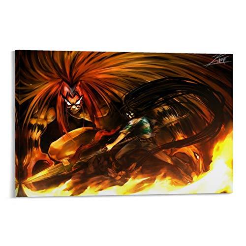 WSDSX Ushio to Tora 8 Anime Poster su tela, stampa artistica da parete per interni estetici fumetti per decorazione domestica, 30 x 45 cm