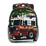 RTUBNSD Mochila Infantil para Niño Kindergarten Accidente Red Fire Camión De Bomberos Conducción Mochilas Kinder Preescolar Niñas Mochila Mochilas Lindo 2-5 Años