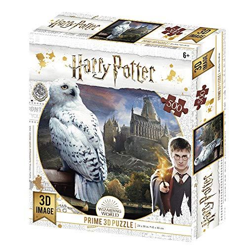 Prime 3D Redstring-Puzzle lenticulaire Harry Potter Hedwig 500 pièces (Effet 3D), lenticular H