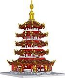 BAIDEFENG Mini Bloques, Estilo Chino Leifeng Pagoda Tower Architecture Bricks, Micro Ladrillos 3D Rompecabezas Juguetes educativos para niños