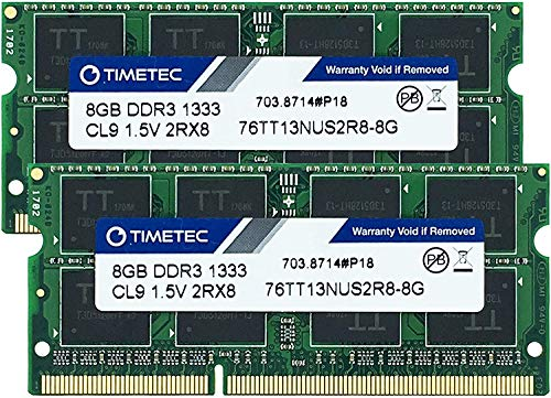 Timetec Hynix IC 16 GB Kit (2x8GB) ノートPC用メモリ DDR3 1333 MHz PC3 10600 204 Pin SODIMM Laptop upgrade 16 GB Kit(2x8GB)