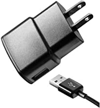 Samsung 1 Amp Travel Charger with 5-Feet Micro USB Cable - Non-Retail Packaging - Black (Discontinued by Manufacturer)
