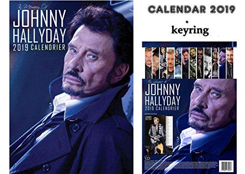 JOHNNY HALLYDAY FRENCH EDITION CALENDRIER 2019 + JOHNNY HALLYDAY PORTE CLÉ