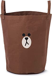 LINE FRIENDS Space Saver Bag - Brown Character Storage Bag with Cover, Brown