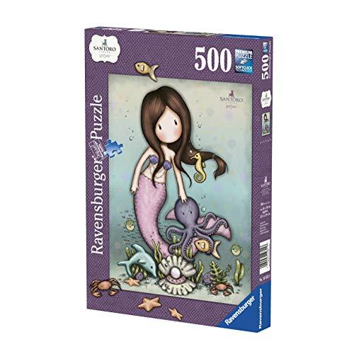 Ravensburger- Puzzle da 500 pezzi Nice to Sea You Gorjuss Adulto, 4005556148158