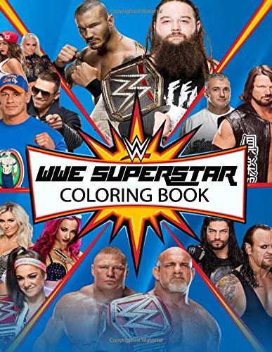 WWE Superstar Coloring Book: The best coloring book with all of your favorite wrestling superstars