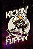Kickin' And Flippin': Skateboard Gift For Skateboarders (6'x9') Dot Grid Notebook To Write...