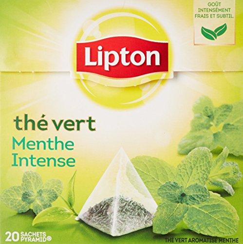 Lipton Thé Vert Menthe Intense 20 Sachets