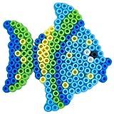 La Manuli - Piastre di perline da stirare con modelli abbinati, pesce + perline in omaggio | Midi trasparenti | Accessori | Un buon regalo per bambini a partire dai 5 anni (pesce)