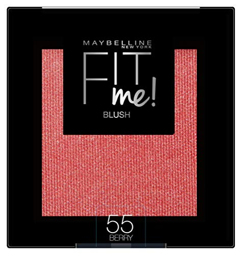 Maybelline New York Fit Me Blush Colorete en Polvo Mate, para Todo Tipo de Pieles, Tono 55 Berry