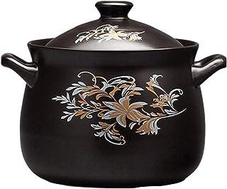 APcjerp Cazuela Olla de cerámica de cerámica Premium Fuentes for Horno cazuela de Cocina Especial for Cocina de inducción de Cocina Sopa de Olla (Tamaño: 5L) Hslywan (Size : 2.5L)