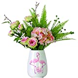 flores artificiales Simulados Hydrangea Rosas simple estilo de la moda nórdica falsificación flor Bonsai for las tablas de la sala de oficina Lugar de las flores artificiales Flor artificial